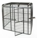 "62 ""x 62"" Black Walk In Aviary - A&E Cage Co"