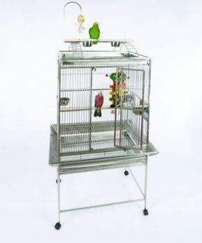 32 x 23 Play Top Stainless Steel A&E Cage