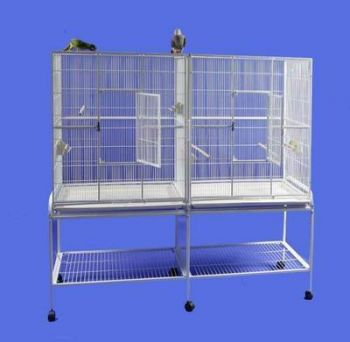 64 x 21 Double Flight Cage w/ Divider AE Cage