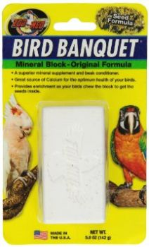 Lg Original Mineral Block-Zoo Med Bird Banquet