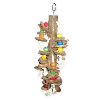 Real Wood w/ Hanging Cylinders-Happy Beaks
