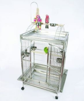 36 x 28 Lg Play Top Stainless Steel A&E Cage