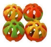 Lg Heavy Plastic Rattle Ball-Happy Beaks