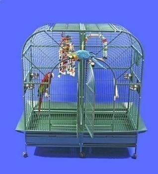 64 x 32 x 62 Double Macaw Powder Coated AE Cage