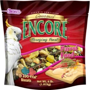 4lb Encore Gourmet Parrot Food-Brown's