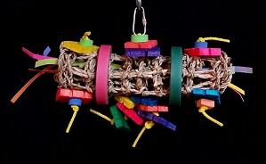 Horizontal Chewing Delight-Bird Toy Creations