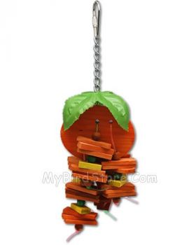 Small Orange Bird Toy - Happy Beaks