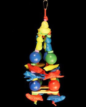 Sm Plastic Animal Tower-Happy Beaks Made In USA