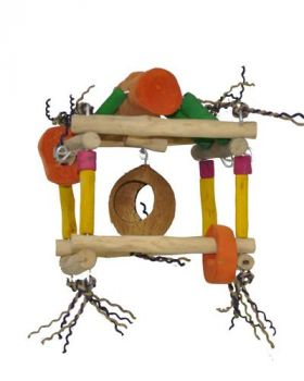 Sm Hanging Play Stand-Java Wood
