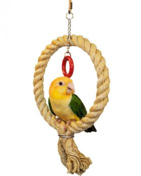 Large Sisal Rope Swing - Happy Beaks
