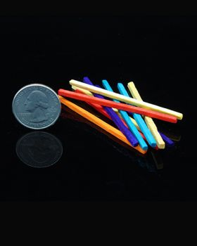 Mini Color Wood Sticks 50pk