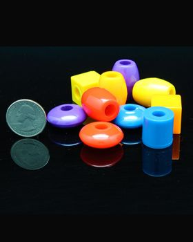 Assorted Plastic Beads 3pk