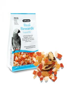 Real Reward Tropical Mix LG Birds 6oz- Zupreem