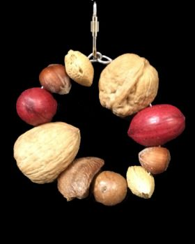 Sm Ring Of Mixed Nuts-Happy Beaks Made In USA