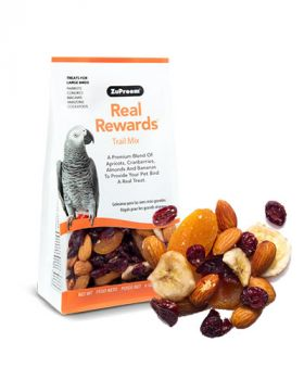 Real Reward Trail Mix LG Birds 6oz- Zupreem