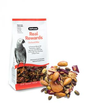 Real Reward Orchard Mix LG Birds 6oz- Zupreem