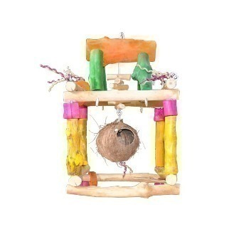Med Hanging Play Stand-Java Wood