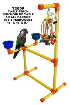 Sm Tabletop Perch w/ Toy Hook-Zoo Max