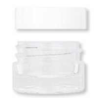 4ml Acrylic Jar W/White Lid