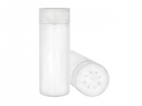 6oz White Polypropylene Powder Shakers