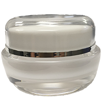 1/2oz Acrylic Jar w/ White Lid
