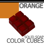 Orange Solid Color Cubes
