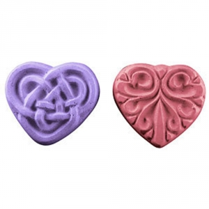 2 Hearts Guest Soap Mold