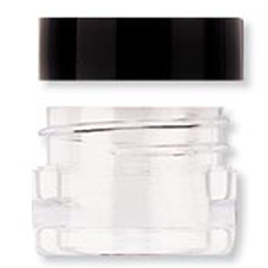 4ml Acrylic Jar W/Black Lid