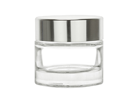 60ml/2oz Glass Jar w/ Metalized Lid & Disc