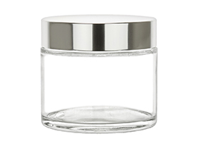 220ml/7.4oz Glass Jar w/ Metalized Lid