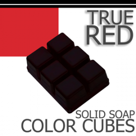 True Red Solid Color Cubes