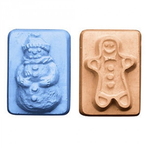 Guest Snowman & Gingerbread Man Soap Mold