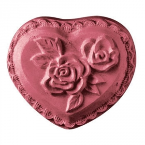 Heart w/Roses Soap Mold