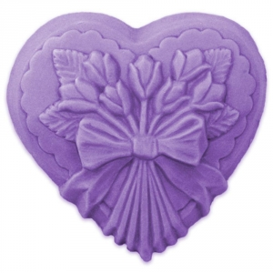 Heart w/ Tulips Soap Mold
