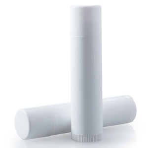 .15oz White Lip Balm Tube W/Cap