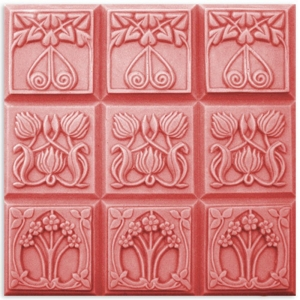 Tray Nouveau Flowers Soap Mold